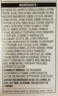 Céréales Pomme Framboise Et Amandes Special K - Ingrédients