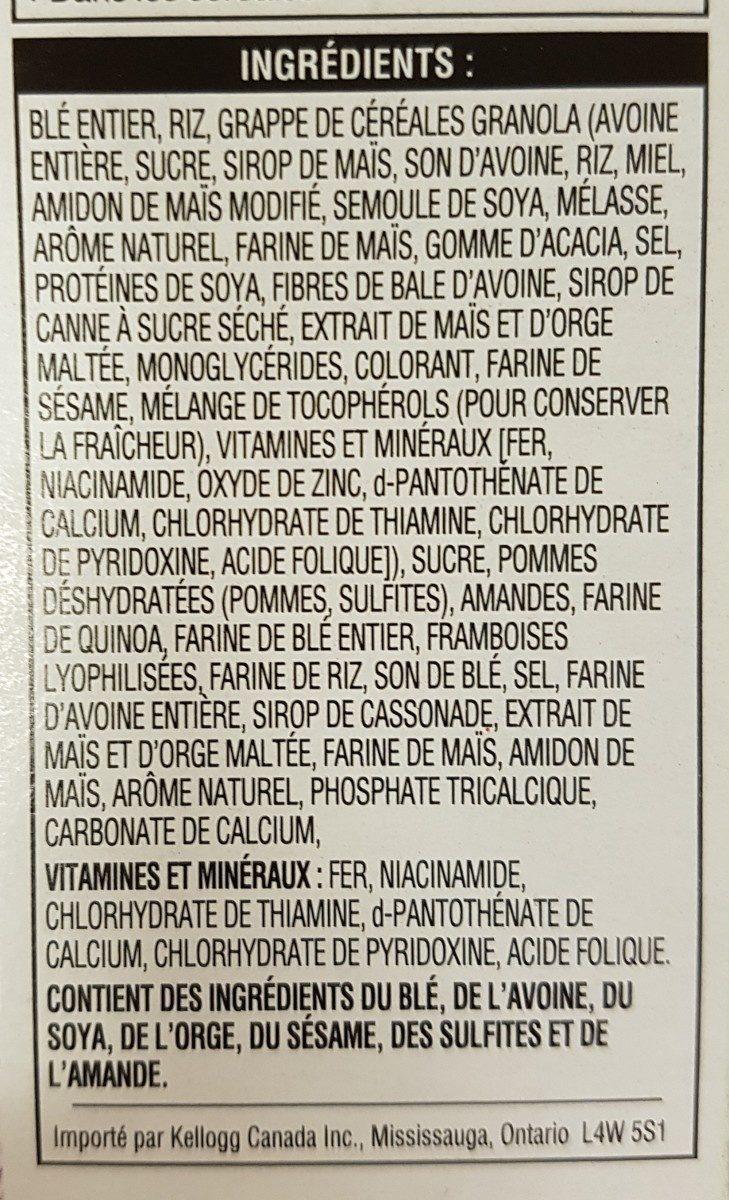 Céréales Pomme Framboise Et Amandes Special K - Ingredients - fr