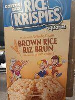 RICE KRISPIES squares BROWN RICE - Product - en