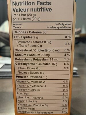 RICE KRISPIES squares BROWN RICE - Nutrition facts - en