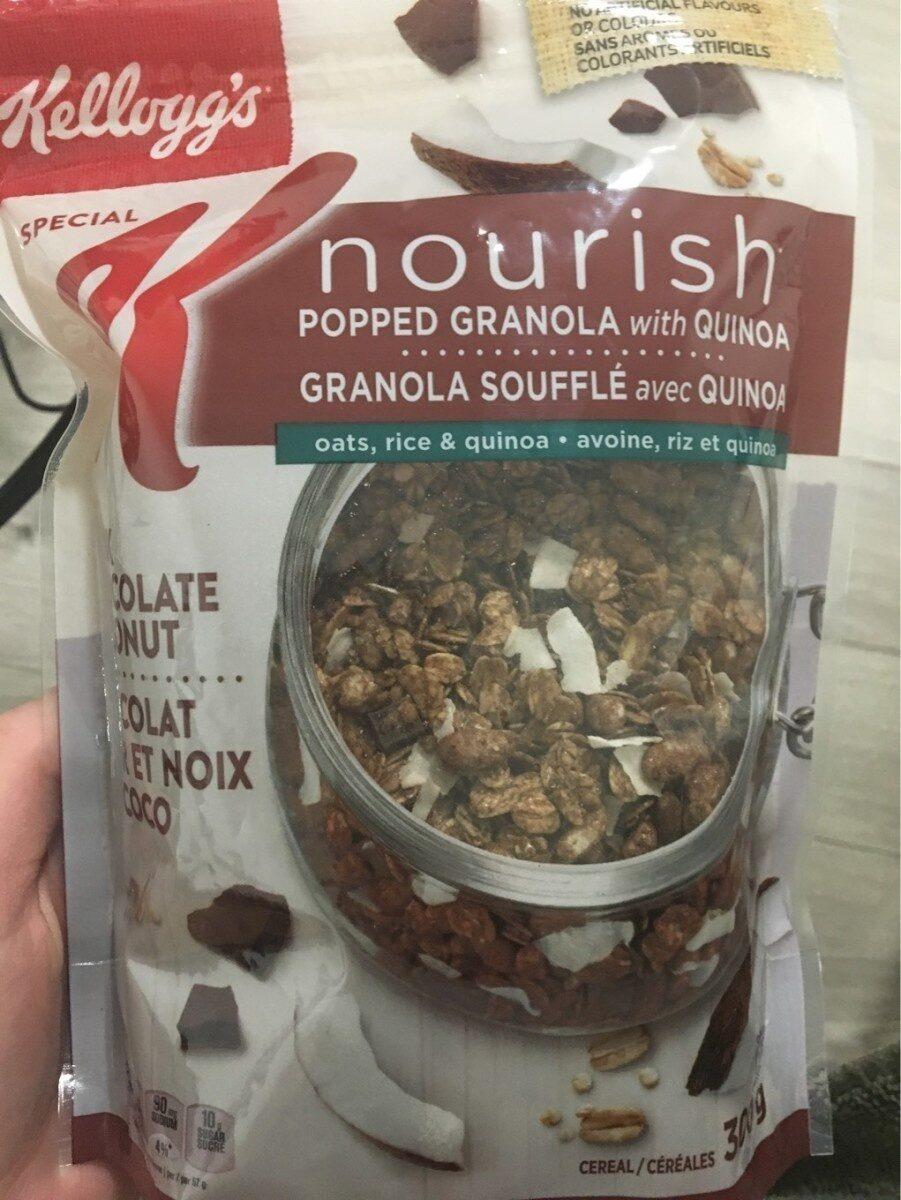 Nourish Pop Granola W / Quinoa Dark Choc Coconut - Produit - fr