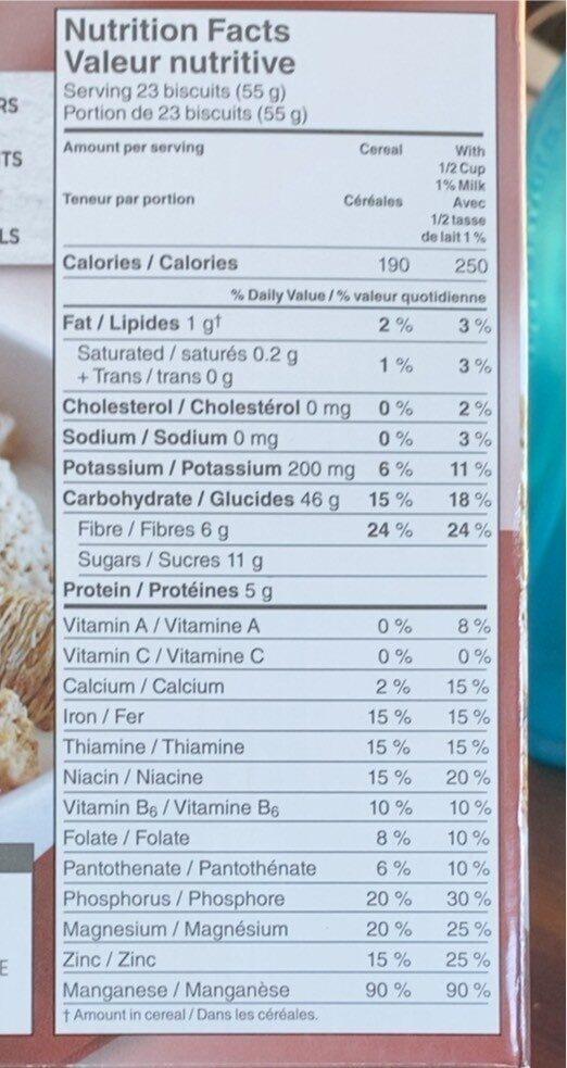 Mini-wheats! - Voedingswaarden - fr