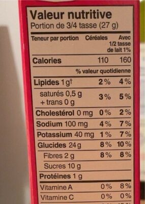Froot Loops - Nutrition facts - fr