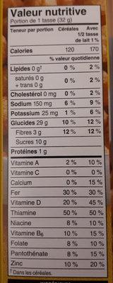 corn pops! - Voedingswaarden