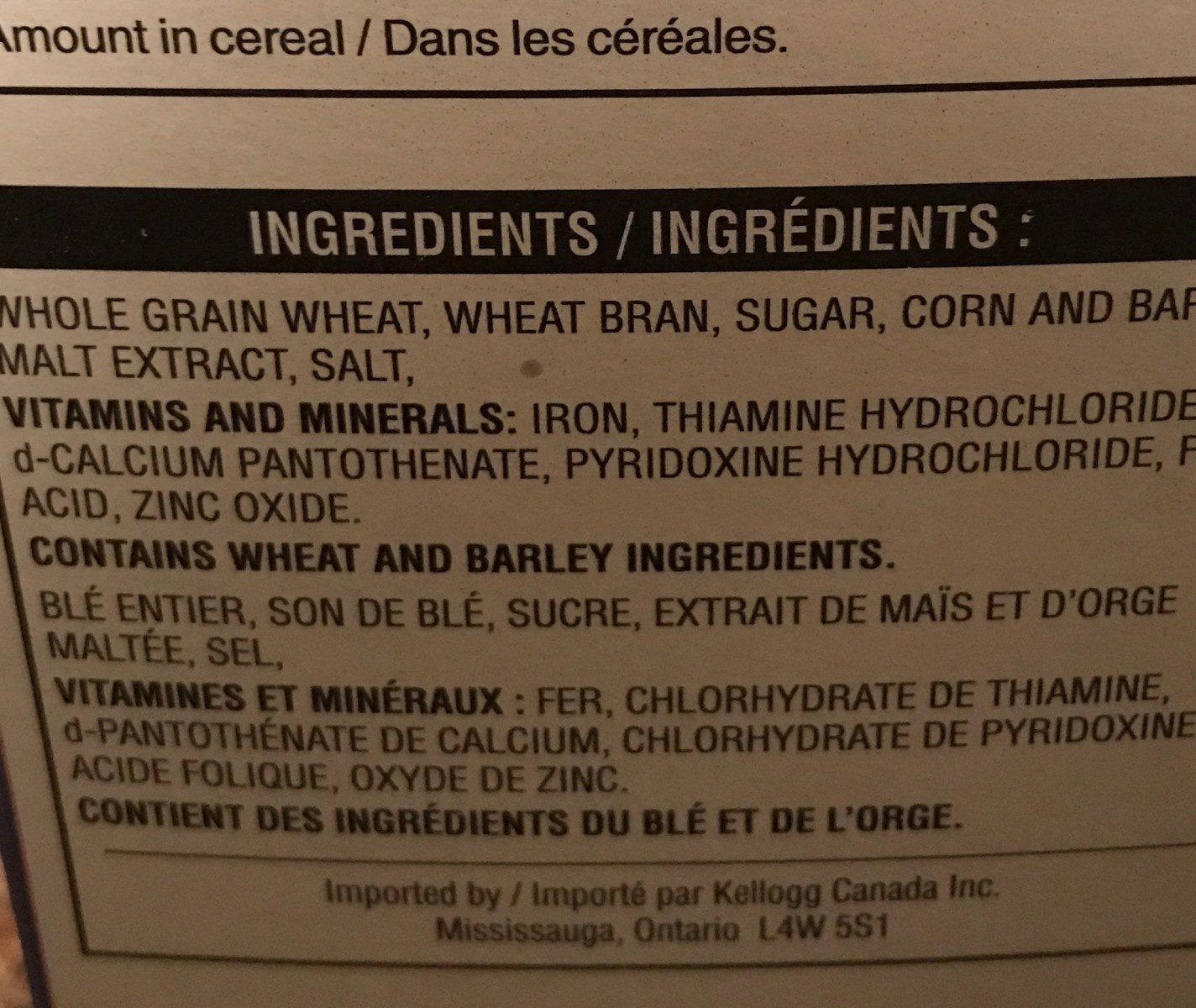 All bran flakes - Ingrédients - fr