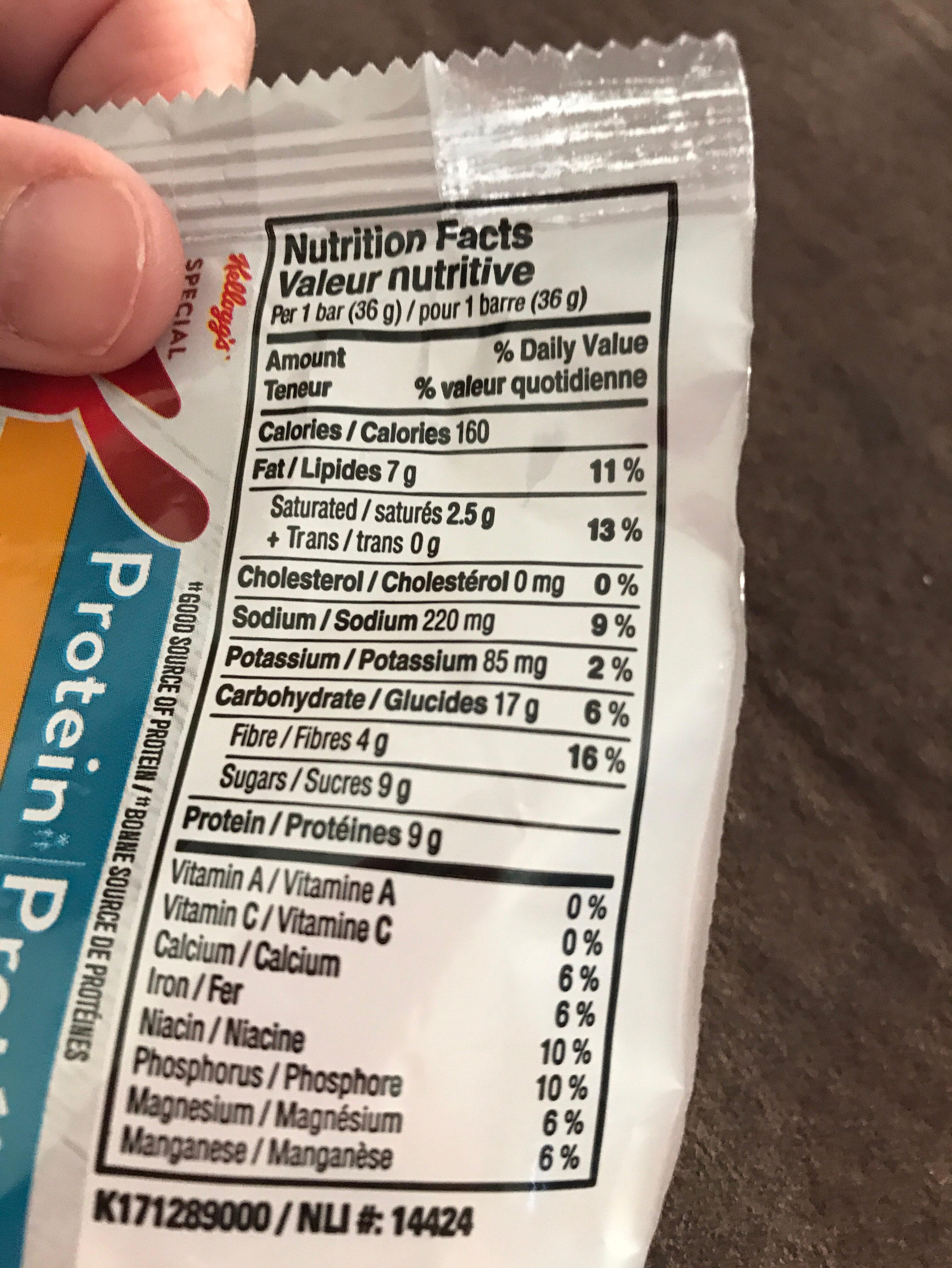 Granola bar - Ingredients - en