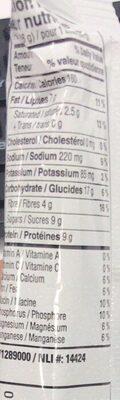 Granola bar - Nutrition facts - en