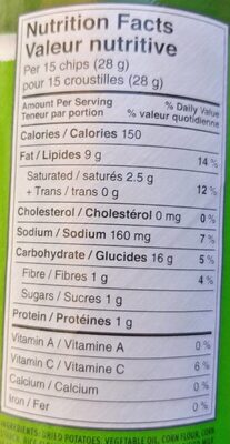 Pringles - Nutrition facts - fr