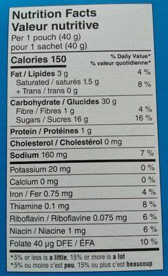 Pop-tarts bouchées saveur fraise - Nutrition facts - fr