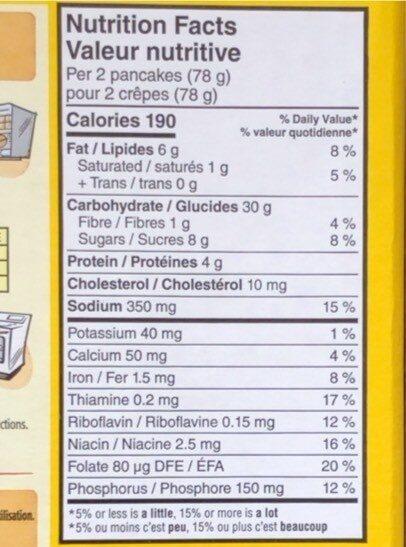 Eggo - Voedingswaarden - fr