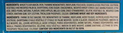 Tartelettes Pour Grille-pain Pop-tarts (glacées Aux Fraises ) - Ingrédients