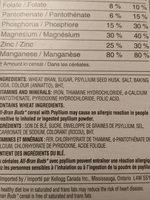 All bran buds jumbo pack - Inhaltsstoffe - fr