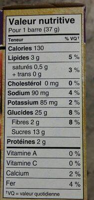 Barres De Céréales Nutri-grain (fruits Des Champs) - Nutrition facts - fr