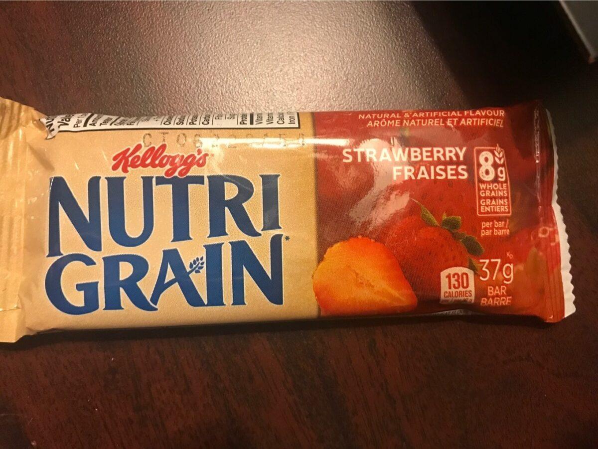 Kellogg's Nutri-grain Cereal Bar - Strawberry - Produit - fr
