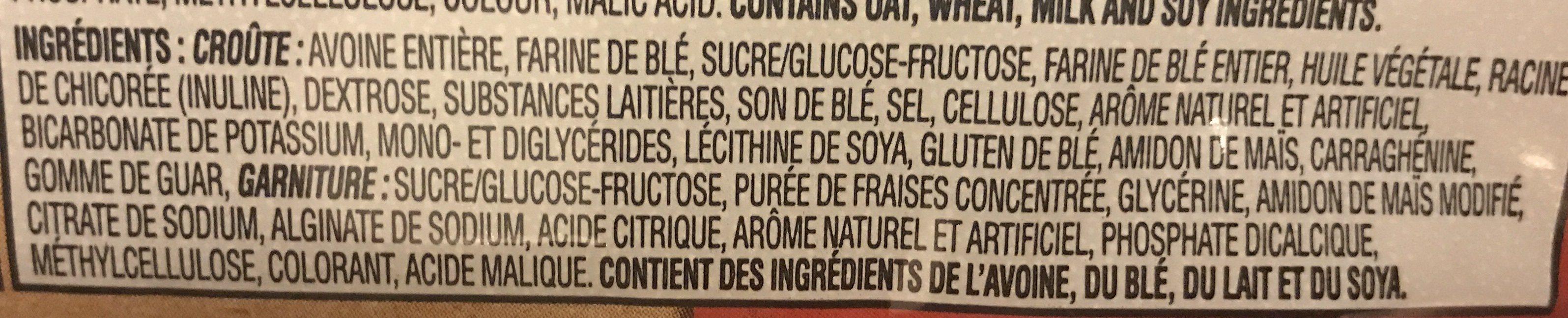 Kellogg's Nutri-grain Cereal Bar - Strawberry - Ingrédients - fr