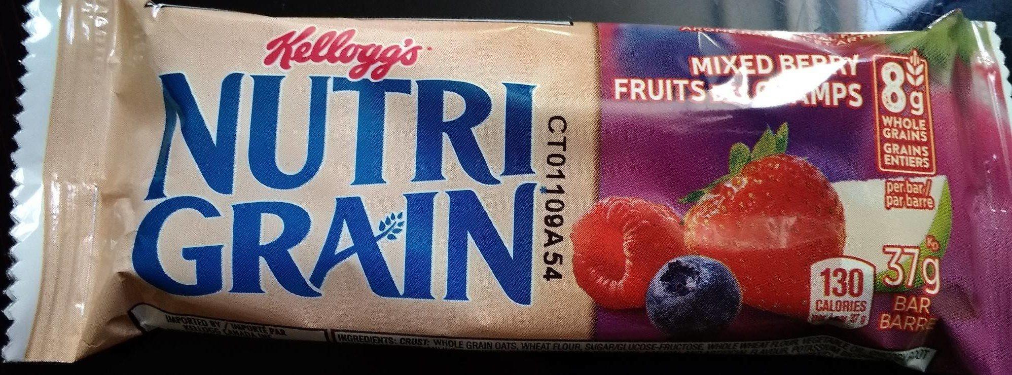 Nutri grain fruit rouge - Produit - fr