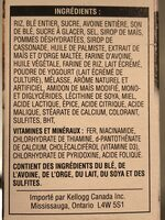 Céréales Spécial K (fruits & Yogourt) - Ingrédients - fr