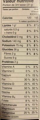 Céréales Spécial K (fruits & Yogourt) - Informations nutritionnelles - fr