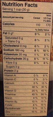Crispix - Informations nutritionnelles - fr