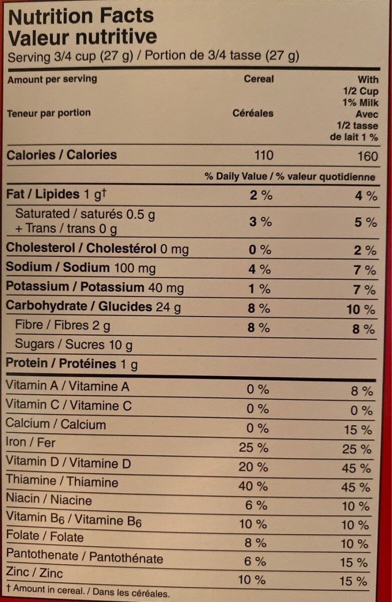 Froot Loops Kelloggs - Informations nutritionnelles - fr