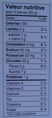 Fruit Crisps - Nutrition facts - fr
