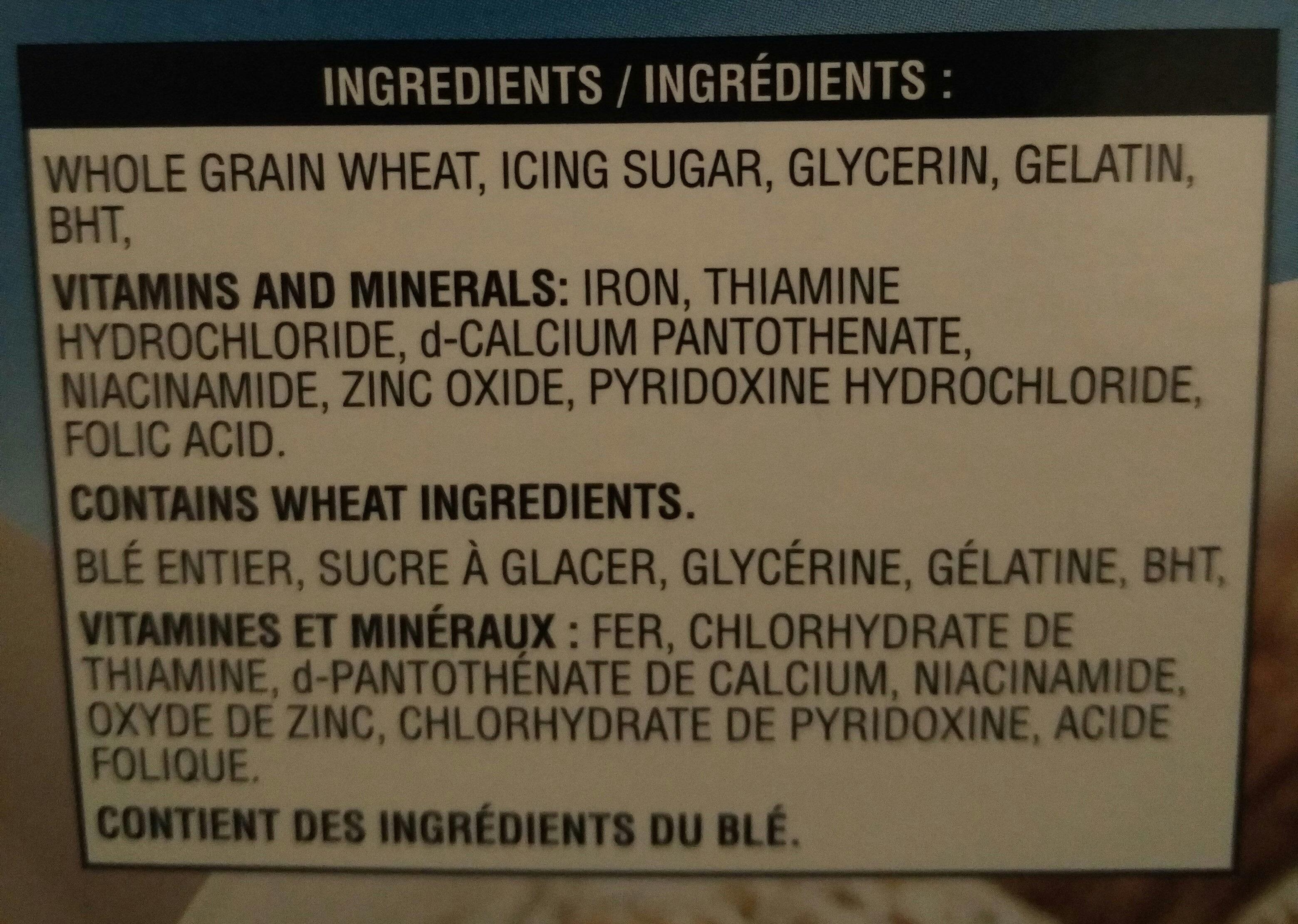 Mini-wheats - Ingrédients - fr