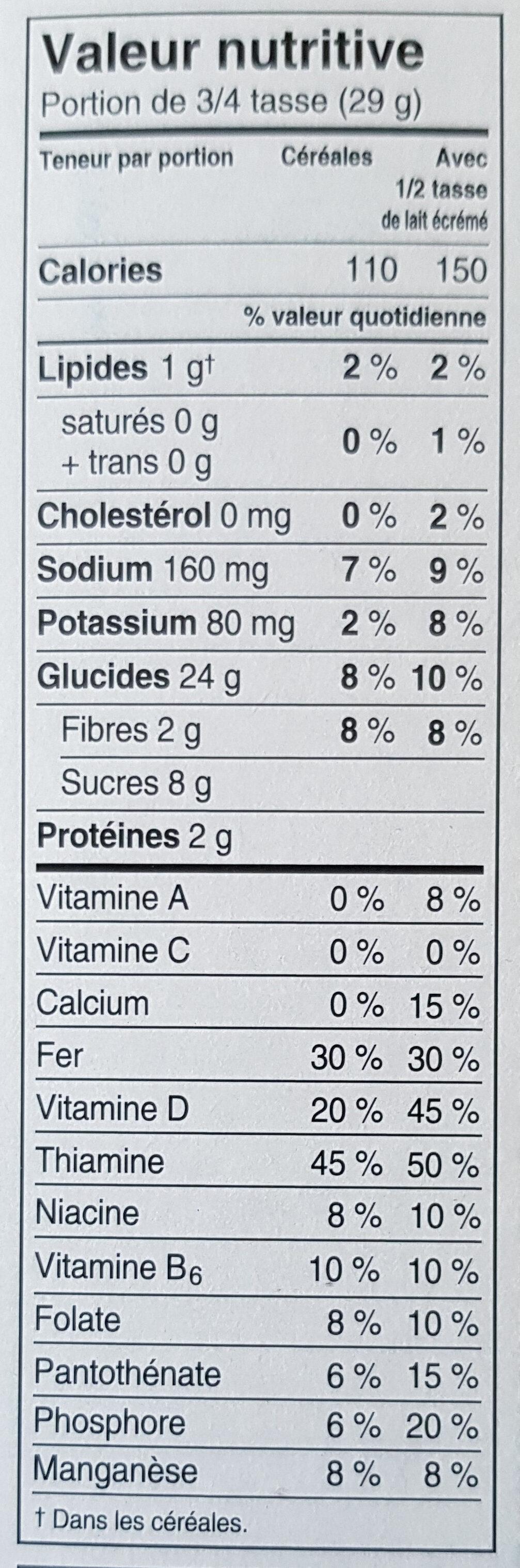 Special K Vanille et amandes - Informations nutritionnelles - fr