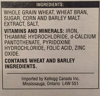 All bran flakes - Ingredients - en