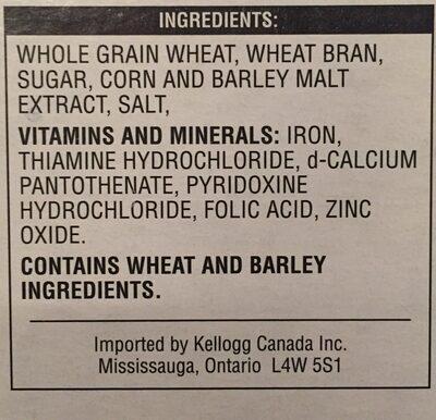 All bran flakes - Ingredients