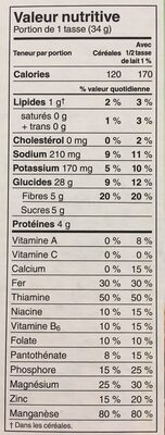 All bran flakes - Nutrition facts - en