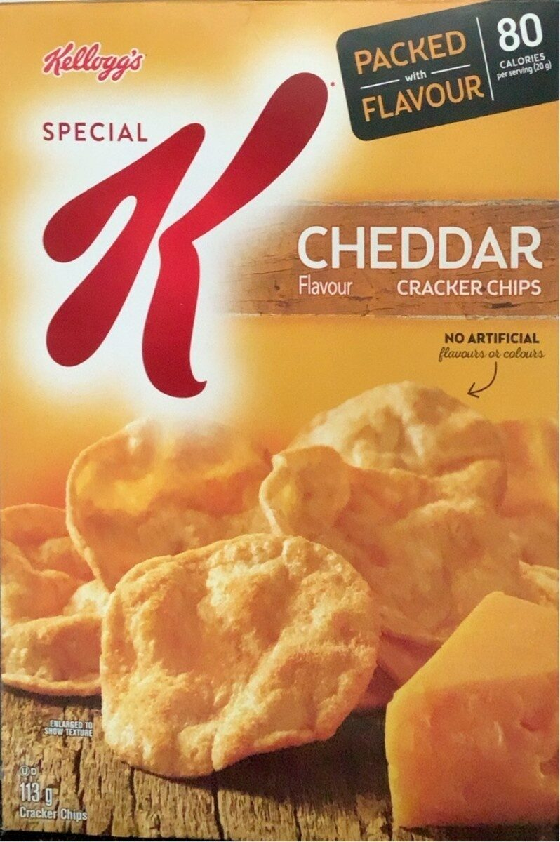 Special k cracker chips cheddar flavour imported from canada - Product - en