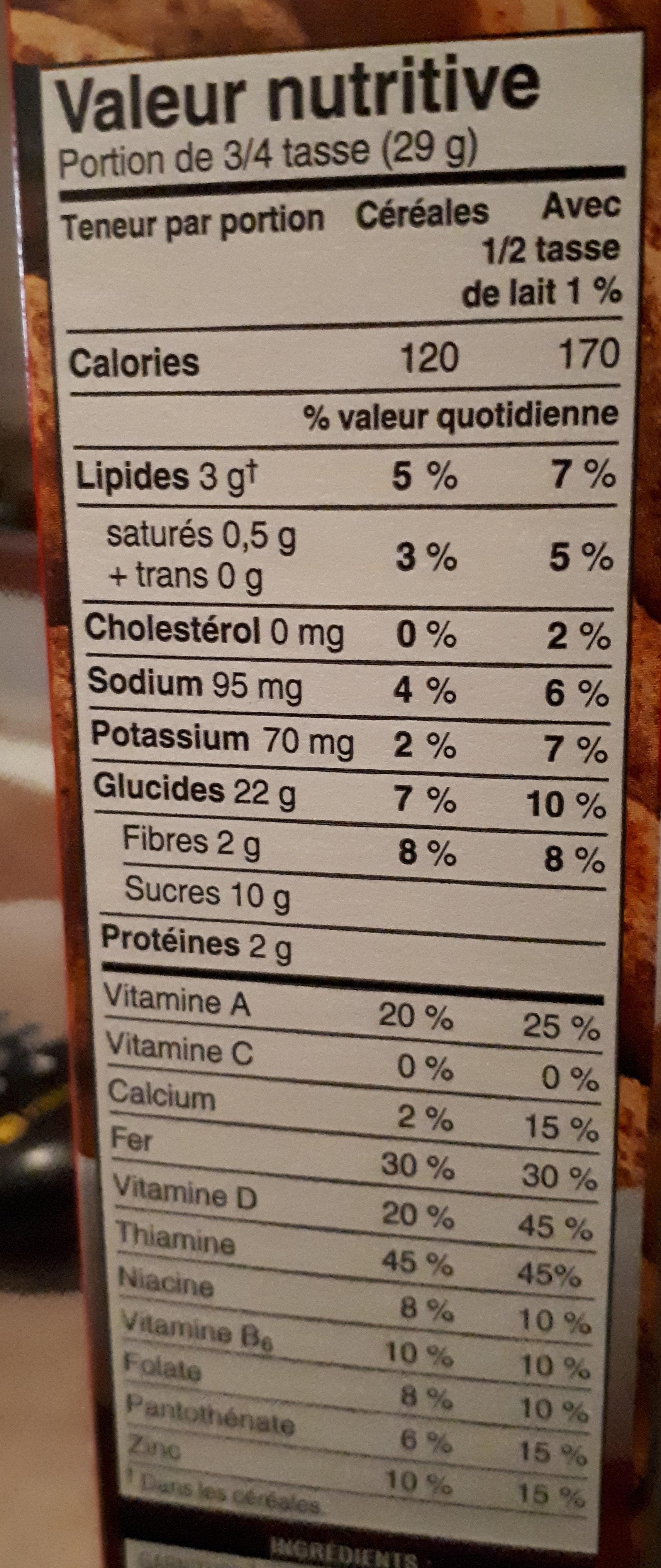 Céréales Au Chocolat Krave - Nutrition facts - fr
