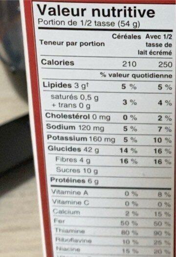 Kelloyy's Granola pauvre en gras - Nutrition facts - fr