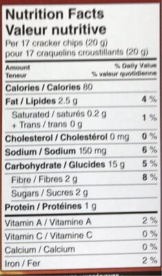 Special k cracker chips bbq gram imported from canada - Nutrition facts - en