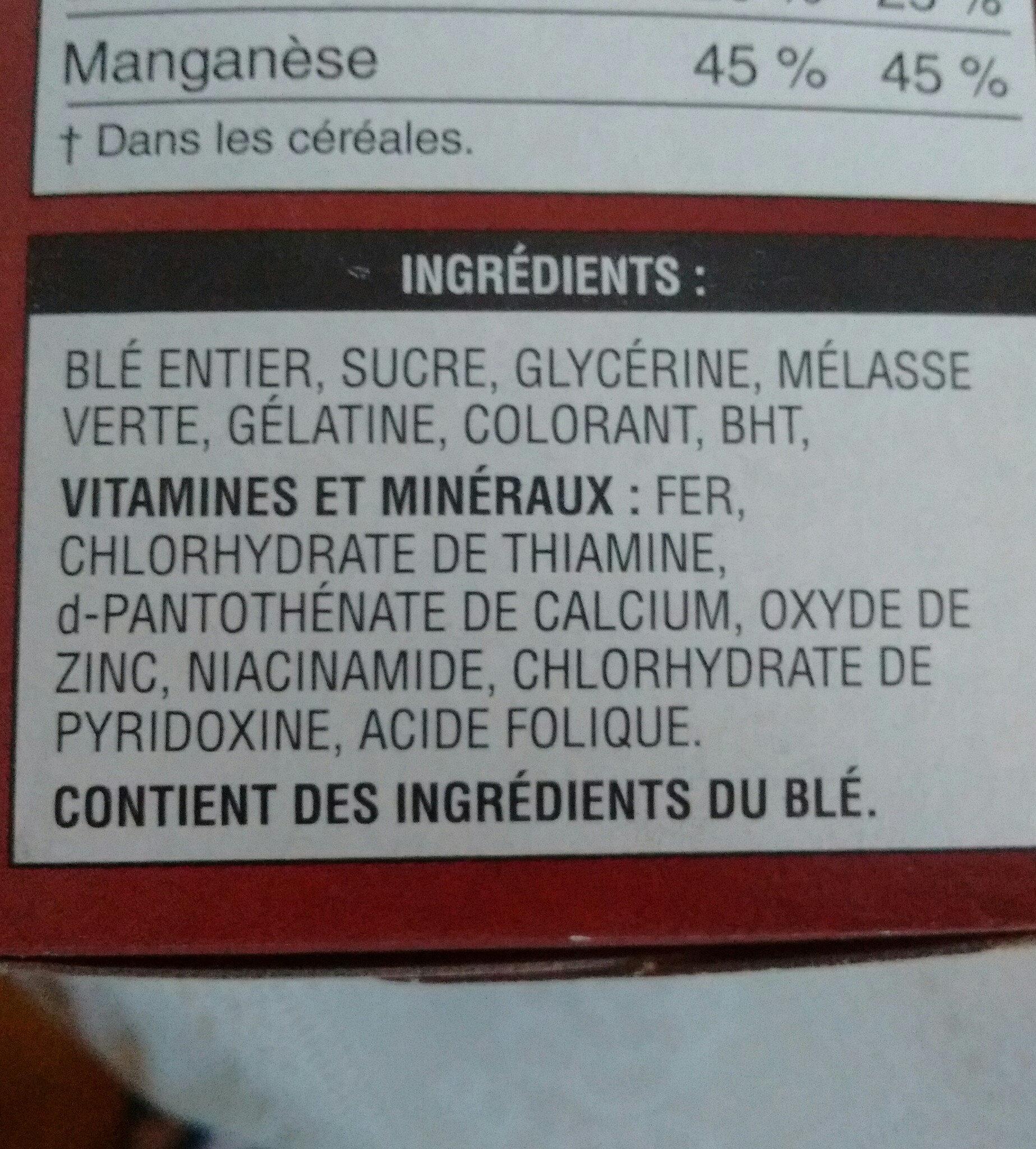 Mini wheats - Ingredients - fr