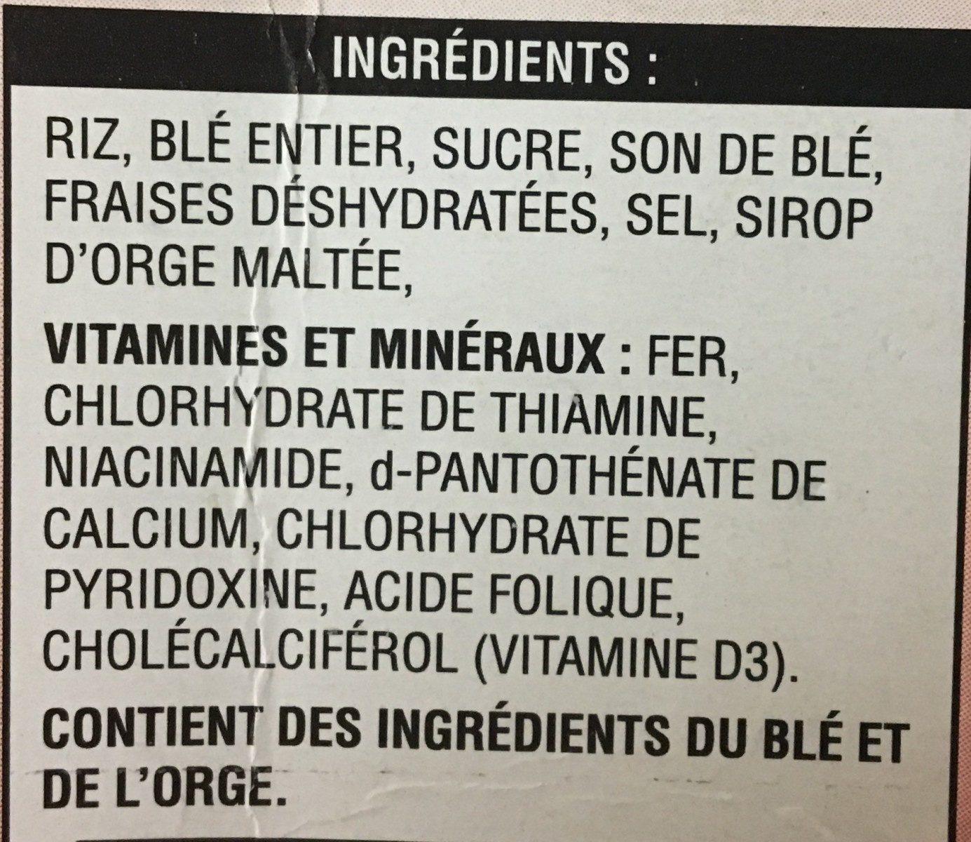 Special K red berries - Ingredients - fr
