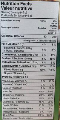 Céréales Just Right - Nutrition facts - fr