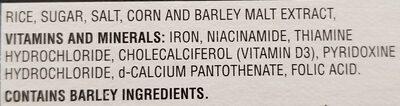 Céréale Rice Krispies - Ingredients - en