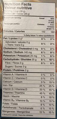 Céréale Rice Krispies - Informations nutritionnelles - fr