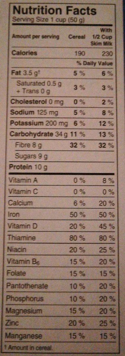 Céréales Special k Protéines - Informations nutritionnelles - fr