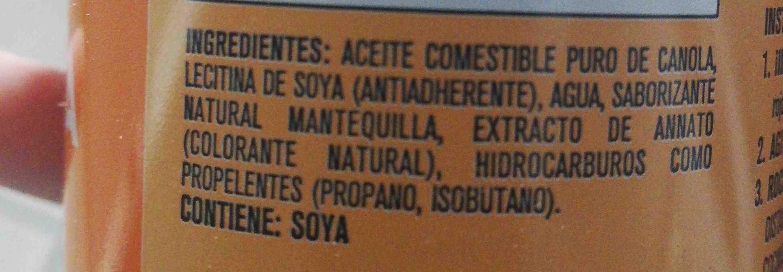 Pam - Ingredientes - en