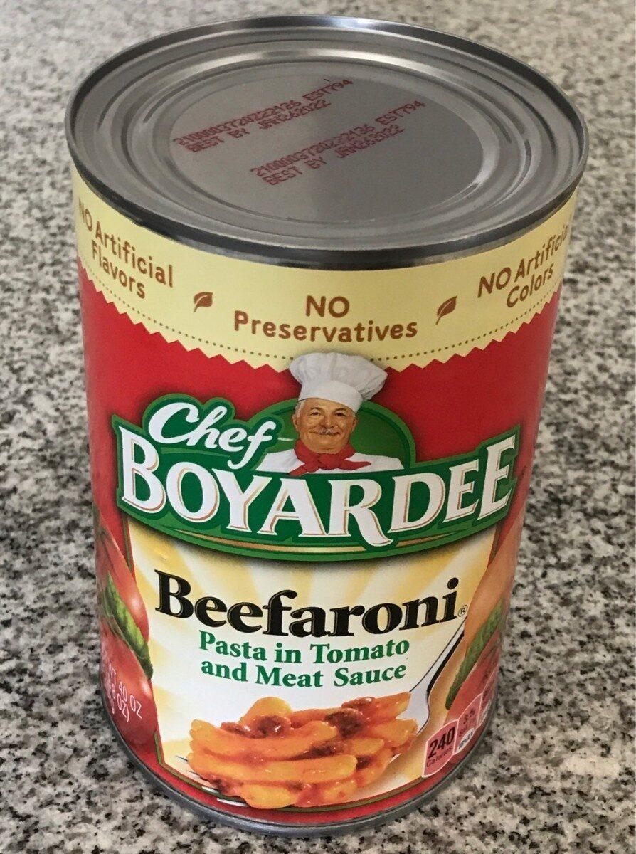 Chef Boyardee Beefaroni, 40 oz - Product - en