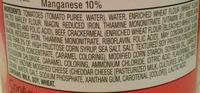 Mini beef ravioli - Ingredients