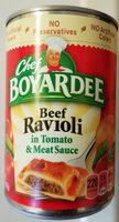 Beef ravioli in pasta sauce - Product - en