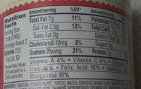 Beef ravioli in tomato & meat sauce - Nutrition facts