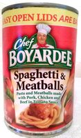 CHEF BOYARDEE Spaghetti And Meatballs, 14.5 OZ - Produit - en