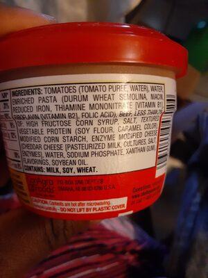 CHEF BOYARDEE Microwaveable Beefaroni, 7.5 OZ - Ingrediënten - en