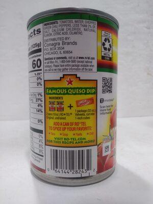 Diced Tomatoes & Green Chilies - Ingredients - en