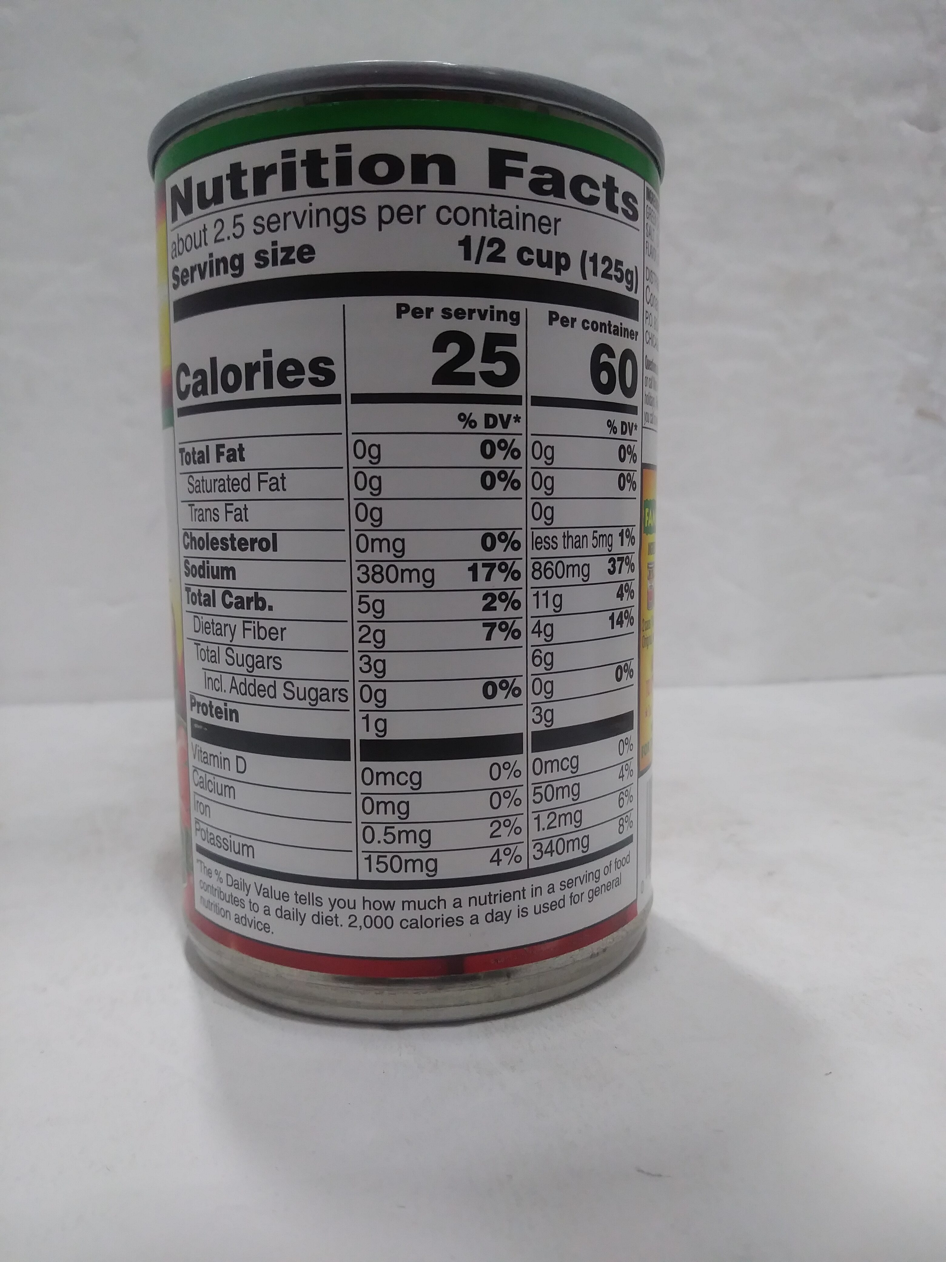 Diced Tomatoes & Green Chilies - Nutrition facts - en