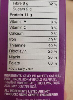 Macaroni smart - Ingrédients
